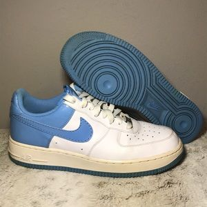 🆕Nike AF1 Low '07 White/ University Blue Croc